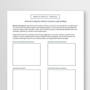 Referral Sheet Template thumbnail