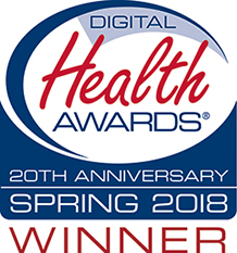 NIAAA Digital Health Award 20th Anniversary Spring 2018 Winner Logo